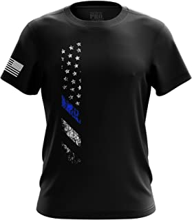 Sponsored Ad - U.S Flag Blue Line Red Line Patriotic Military Army Mens T-Shirt Printed & Packaged in The USA