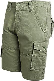 Lentta Men's Cotton Camouflage Multi Pocket Military Outdoor Casual Cargo Shorts