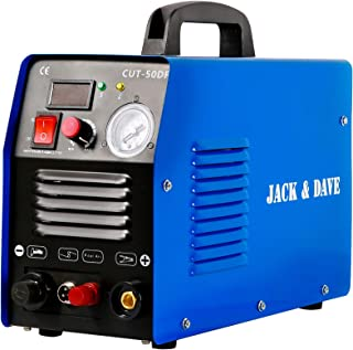 Jack&Dave Plasma Cutter CUT50D Real 50 Amps 110V/220V Dual Voltage DC Inverter IGBT Non-Touch Pilot Arc Cutting Machine Clean Cut