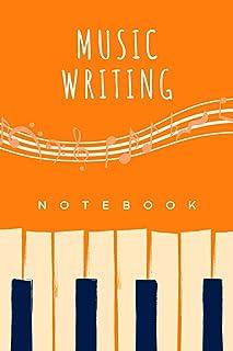 Music Writing Notebook: Standard Wide Staff Manuscript Paper