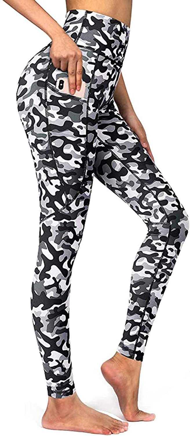 LONEA Women's Tummy Control Camouflage Print Workout High Waist Yoga Pants Leggings Stretchy Athletic Pants for Women Gift