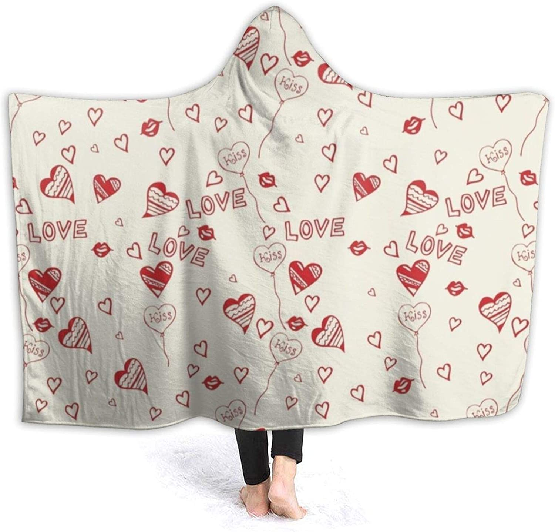 Fleece Love Heart Patterns Throw Lightweight Super ! Super beauty product restock quality top! Soft Blanket Max 68% OFF