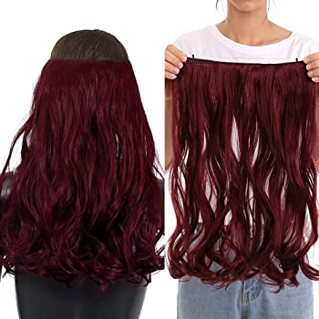 """Secret Halo Hair Extensions Flip in Curly Wavy Hair Extension Synthetic Women Hairpieces 20"""""""