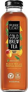 Pure Leaf Cold Brew Iced Tea, Tropical Mango, 14 Fl oz Bottles, (8 Pack)
