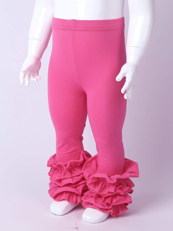 Oyolan Baby M/ädchen Leggings Lange Stretch Hose mit R/üschen Neugeborenen Freizeithose f/ür Fr/ühling Herbst Winter 0-4 Jahre
