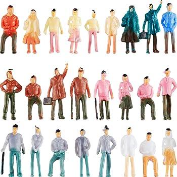 100 stücke Gemalte Action figuren Modellbahn Menschen für Layout