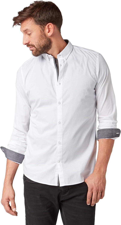 TOM TAILOR für Männer Blausen, Shirts & Hemden Schlichtes Hemd B07J5JKPVN  Kaufen