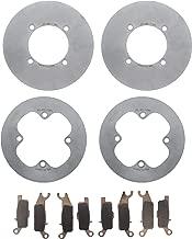 Race Driven Front MudRat Brake Rotors Discs & Brake Pads for Yamaha Grizzly YFM700 YFM550 YFM 550 700