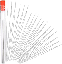 Stainless Beading Needles, 30 Pieces, 6 Size, with Needle Bottle, Big Eye Beading Needles, Beading Embroidery, for Jewelry Making