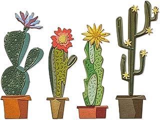 Sizzix Thinlits Lot de 9 matrices funky cactus par Tim Holtz, 665365