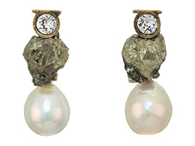 Salvatore Ferragamo Pirite Crystal Earrings (Fools Gold/Crystal) Earring