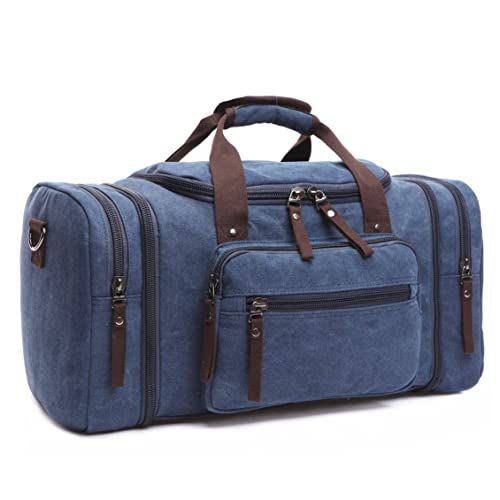 3203d1402cde BAOSHA HB-21 Canvas Holdall Overnight Weekend Bag Travel Duffle Bag  Weekender Bags Sports Shoulder