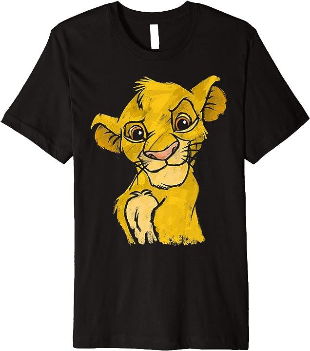Disney Lion King Young Simba Smiling Portrait Sketch Premium T-Shirt