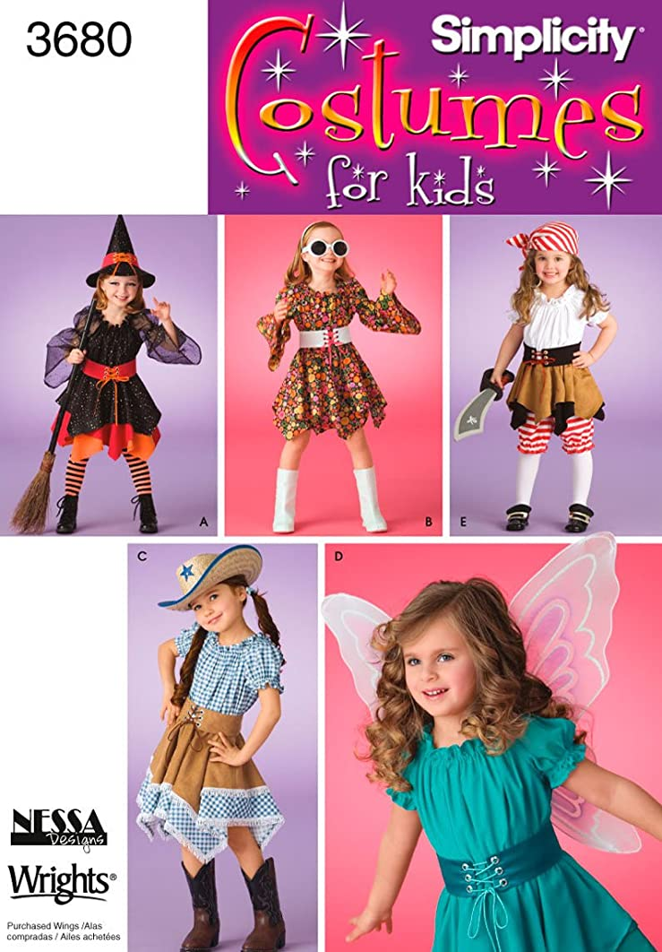 Simplicity Sewing Pattern 3680 Child Costumes, A (3-4-5-6-7-8)