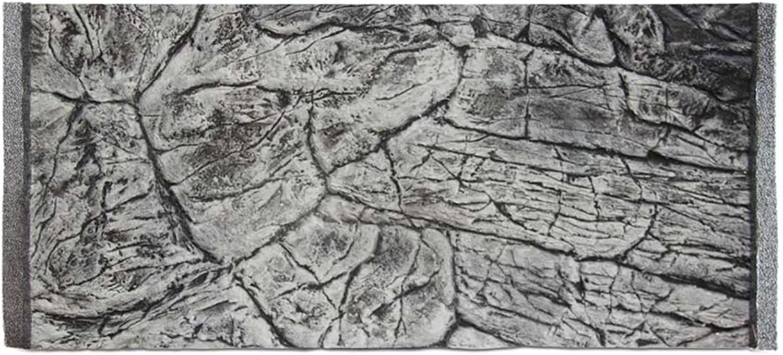 Aqua Maniac 3D Aquarium Background, Thin Rock Grey, Polyresin (Not Foam), 12 cm Thick, Unique Aqua Decor (77x36cm)
