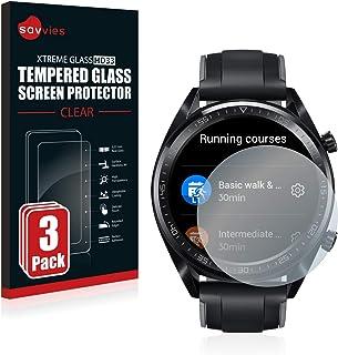 Savvies Tempered Glass Screen Protector compatibel met Huawei Watch GT/GT Active (3 Stuks) - 9H Gehard Glas Scherm Beschermer