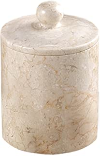 Creative Home Natural Champagne Marble Stone SPA Collection Cotton Ball Holder