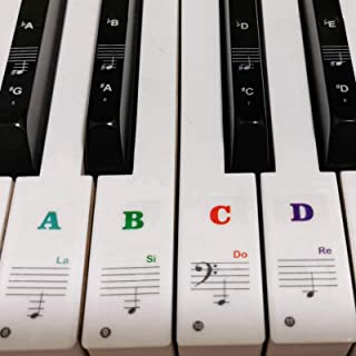 Piano Stickers for Keys, White & Black Piano Keyboar