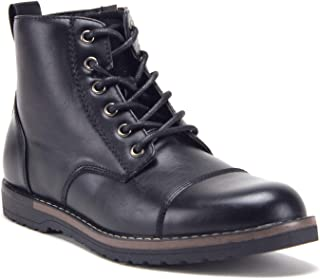 Men's 617138 Contrast Lace Up Ankle High Casual Sneakers Chukka Boots