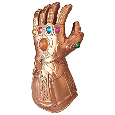 """Moonorn Infinity War Thanos Gauntlet, LED Light Up Glove Cosplay Costume Props Accessories for Adult, Gold 14""""×6.7"""""""