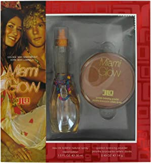 Miami Glow By Jennifer Lopez For Women. Gift Set ( Eau De Toilette Spray 1.0 Oz + Golden Bronzing Powder 0.49 Oz ).