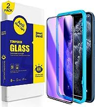 SmartDevil Protector Pantalla de iPhone 11 Pro MAX/iPhone XS MAX,Cristal Templado,Vidrio Templado [Fácil de Instalar] [Anti-Luz Azul ] para iPhone 11 Pro MAX/iPhone XS MAX