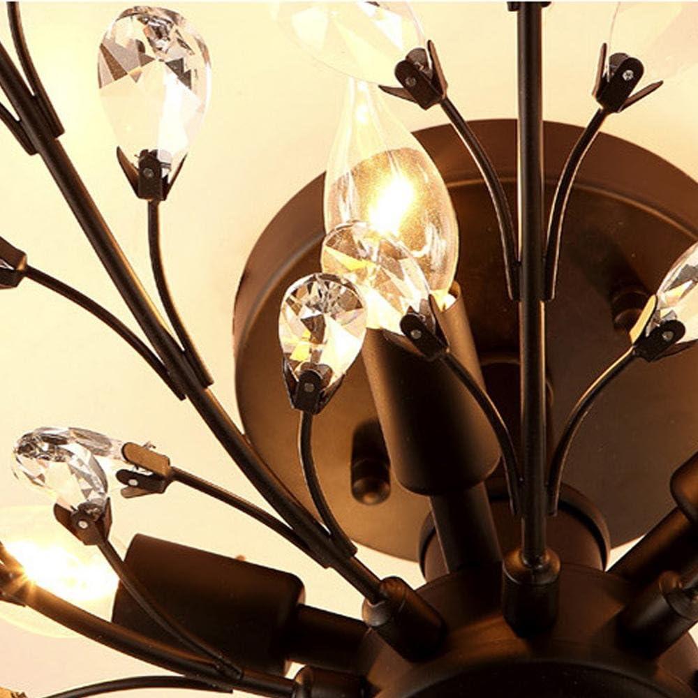 Antike Bronze American Style Rural RETRO Kunst Kristall Deckenlampe Movable Lamp Holder 4 Licht LED kreative Pers/önlichkeit Kristall Kronleuchter 4 Licht