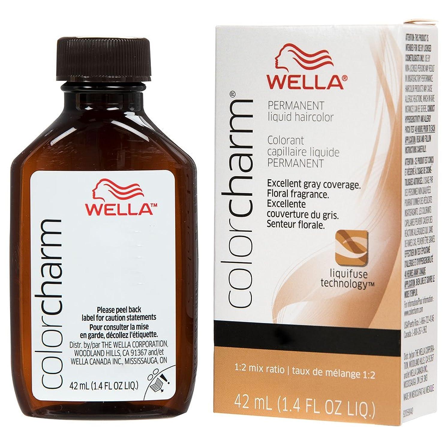 挨拶する二年生祭りWella - Colorcharm - Permanent Liquid - Medium Blonde 7N /711-1.4 OZ / 42 mL