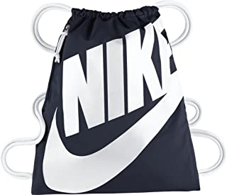 Nike Unisex-Adult Gym Sack, Obsidian/White - NKBA5351