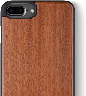 iCASEIT iPhone 8 Plus Wood Case - Premium Finish Unique Cases - Lightweight Natural Wooden Hybrid Snap-on Protective Cover for iPhone 7 & 8 Plus - DC2209 - Rosewood