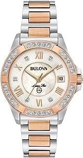 Bulova - de las mujeres 32 mm bicolor Marino Star acero inoxidable y diamantes reloj de pulsera