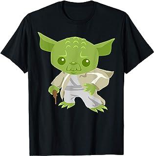 Star Wars Yoda The Cute Wise-Guy Cartoon Jedi Maglietta