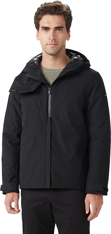 OrolayMen'sWaterproofDownCoat Adjustable Hood WinterJacket with Multi-Pockets