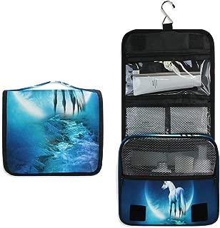 Inspiring Unicorn Hanging Travel Toiletry Bag for Women Men | Hygiene Bag | Bathroom and Shower Organizer for Toiletries, Cosmetics, Makeup, Brushes