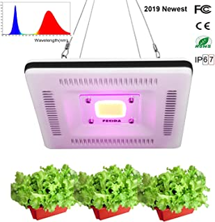 FECiDA COB LED Plant Grow Light Waterproof, 300W CFL & HPS & CMH Grow Lights Equivalent, Professional Full Spectrum Grow Lights for Indoor Plants Seedlings, Growing, Flowering