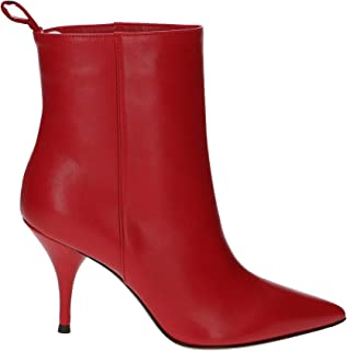 L'Autre Chose Luxury Fashion Womens LDH00485WP26154035 Red Ankle Boots | Fall Winter 19