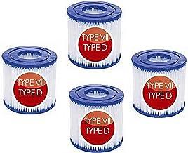Intex tipo D - Cartucho de filtro para Intex tipo D y para Bestway tipo VII, cartucho de filtro de piscina para filtro de piscina hinchable para Summer Waves SFS-350, SFS-600, RP-350, RX-600 (4)