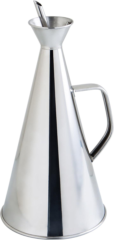 4.39 litros Acero Inoxidable transparente Quid Aceitera Antigoteo INOX 75Cl Renova