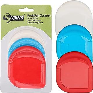سوهان برقی SULLINS ، بسته 3 عدد ظرفشویی ، مجموعه چند رنگ ، آشپزخانه ابزار آلات پلاستیکی ایده آل ، دستگیره سیلیکونی برای شستن ظرف ها ، دستگاه قلم تراش ما یک ابزار آشپزخانه چند منظوره برای نیازهای تراشیده شما می باشد.