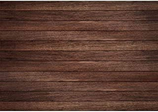 Allenjoy 7x5ft Vintage Brown Wood Photography Backdrop Retro Wood Floor Plank Newborn Baby Portrait Background Baby Shower 1st Birthday Party Banner Decoration Still Life Product Photo Booth Props