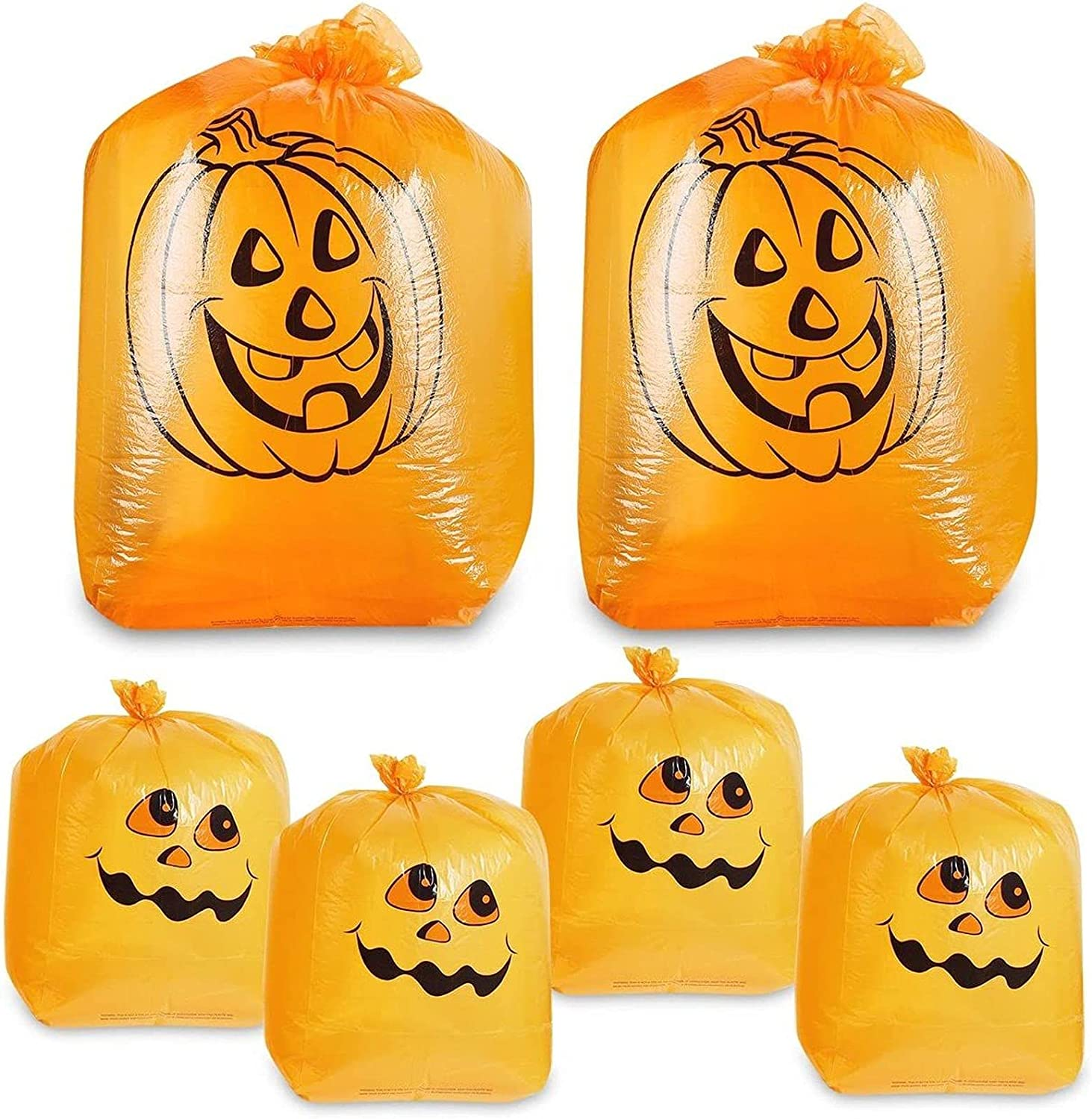 Juvale Pack of 6 Pumpkin Leaf Bag and Sized Pumpk Max 72% OFF We OFFer at cheap prices Small - Medium