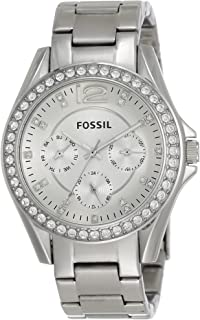 Fossil Women's Riley Stainless Steel Crystal-Accented Multifunction Quartz Watch