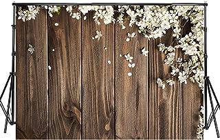Sensfun Fotohintergrund, Frühlingsblumen, Holz, Vinyl, Hochzeit, Blumen, rustikaler Holz Hintergrund, für Babyparty, Kindergeburtstag, Party, Fotostudio, Requisiten, WP093, 7x5ft