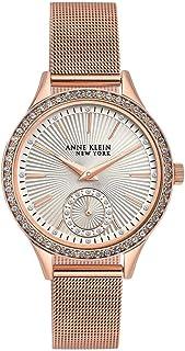 New Anne Klein New York 12/2306SVRG Swarovski Crystal Rose-Gold-Tone Watch