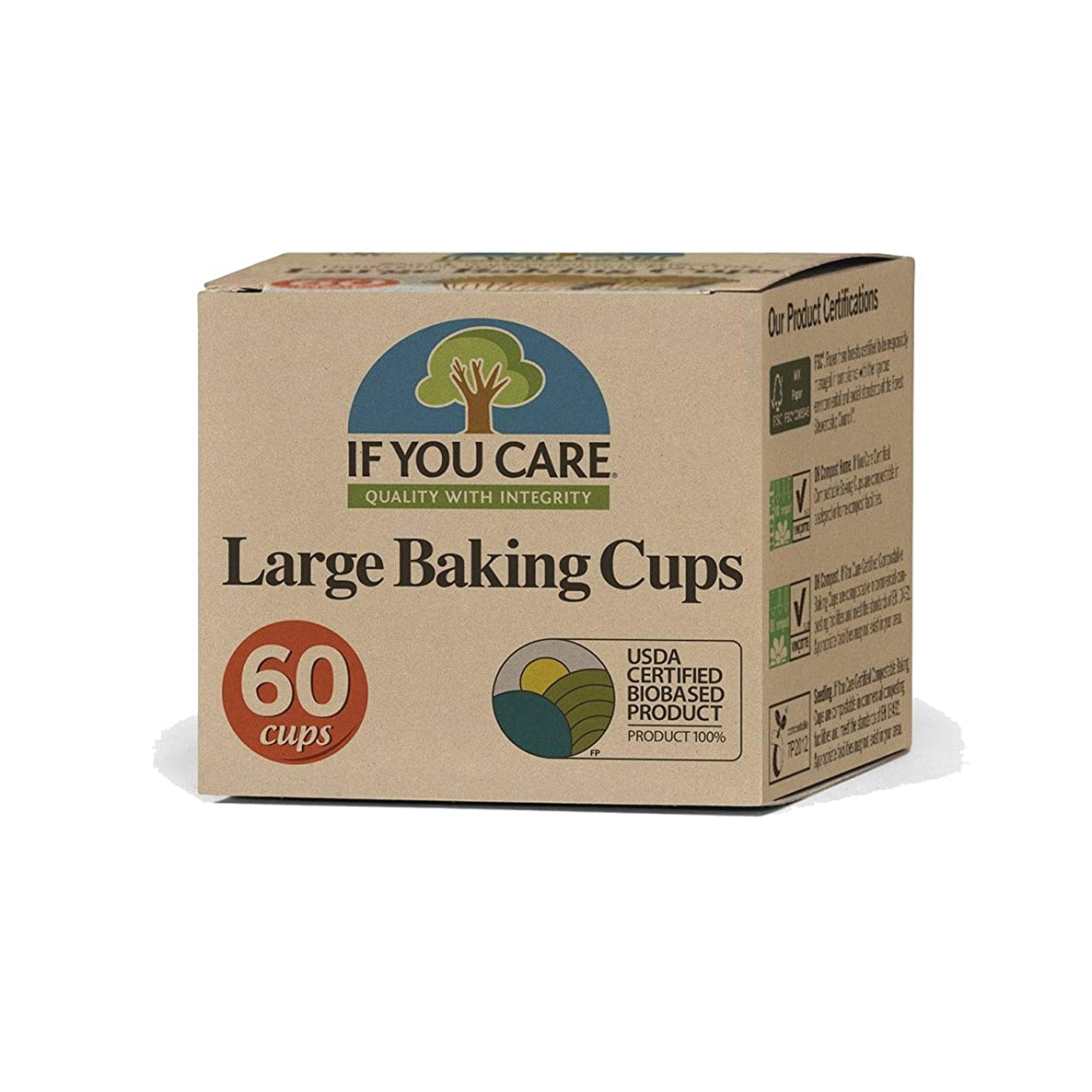 If You Care Fsc Certified Unbleached Large Baking Cups - 60 Count