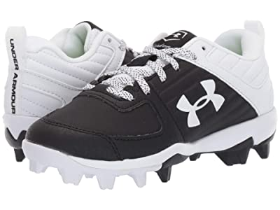 Under Armour Kids Leadoff Low RM Baseball (Toddler/Little Kid/Big Kid) (Black/White) Kids Shoes