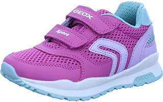Geox Fille Baskets,Chaussures Sport Pavel Girl, Lassie Bas,Removable Insole