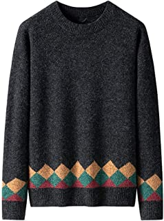 Men's Ethnic Sweaters Autumn Winter Warm Casual Long Sleeve Solid Color Tops Beautyfine