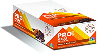 PROBAR - Meal Bar, Mocha Almond Fudge, Non-GMO, Gluten-Free, Certified Organic, Healthy, Plant-Based Whole Food Ingredients, Natural Energy (12 Count)