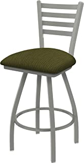 Holland Bar Stool Co. XL 410 Jackie Anodized Nickel Swivel Counter Stool, Axis Grove